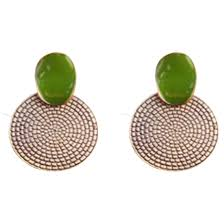 stud earrings online green earrings buy fashion earrings online at kacyworld