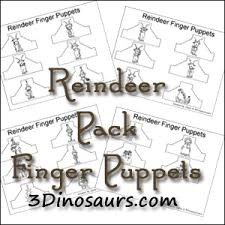 3 dinosaurs reindeer pack