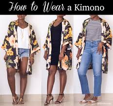 casual going out how to wear a kimono with dress or casual