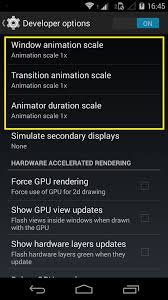 pandown apk how to speed up android phone disabling animations