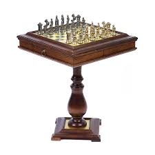 furniture gorgeous dragon chess set with wooden table and gold
