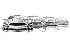 mustang design see exclusive sketches of the 2015 ford mustang photos gq