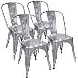 Silver Dining Chairs Amazon Com Silver Chairs Kitchen U0026 Dining Room Furniture