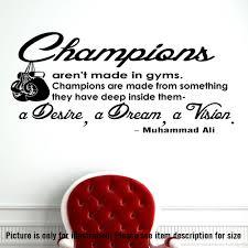 muhammad ali wall art champion quote sticker decal gym bedroom muhammad ali wall art champion quote sticker decal gym bedroom boxing sports d2