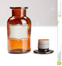 empty open glass chemical bottle stock photo image 21347104