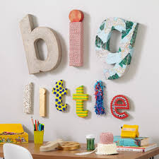 metal wood wall letters the land of nod large crafty kraft paper letter