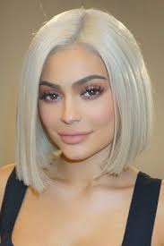 blunt cut bob hairstyle photos kylie jenner straight silver blunt cut bob hairstyle steal her