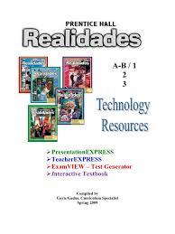 realidades tech manual 2009 computer file educational technology