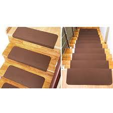 tappeto per scale lianle 5 pcs tappeti per scale antiscivolo rettangolare per scala