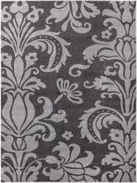 Damask Area Rug Black And White Vavu Damask Oversized Floral Soft Tones Area Rug Dark Grey And