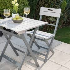 Grey Bistro Table Grigio Bistro Set Garden Tables Chairs Cuckooland