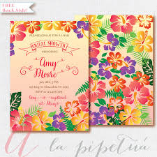 luau bridal shower invitation hawaiian party invitation