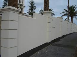 solid with caststone pillars modern boundary wall pinterest