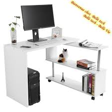bureau ordinateur angle table dangle 360rotatif bureau informatique en bois meuble