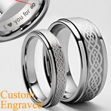titanium celtic wedding bands matching celtic titanium rings set wedding bands size 3 18