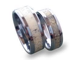 tungsten wedding ring set antler ring set tungsten carbide