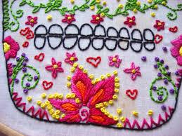 bobby pin bandit dia de los muertos embroidery