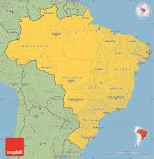 map of brazil savanna style simple map of brazil