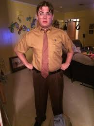 i dressed up as dwight for a halloween party last night