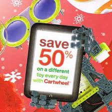 target black friday cartwheel toy deals target cartwheel offer 50 off different toy every day until