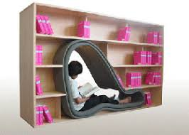 Bookshelf Seat Cave Bookcase Saves Space For Those Who Don U0027t Need It