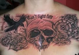 raven chest piece tattoo creativefan
