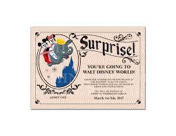 surprise you u0027re going to disney vintage ticket invitation