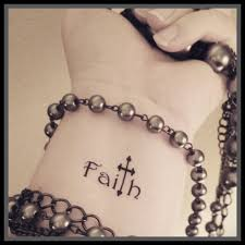 wrist tattoos cross i would want the t in faith to be the cross like this but i like