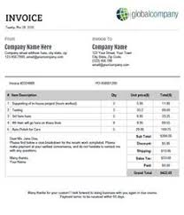 Process Server Invoice Template service invoice with hours and rates office templates