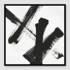 black and white painting ideas art wall decor bold black white canvas art
