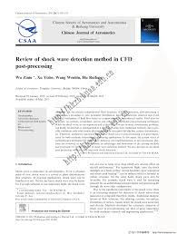 review of shock wave detection method in cfd post processing pdf