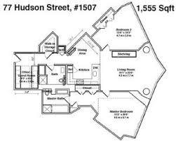 77 hudson floor plans streeteasy 77 hudson at 77 hudson street in paulus hook 1507