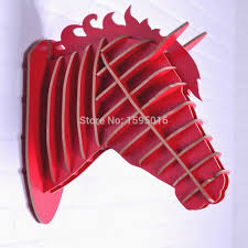 wood horse wall decoration horse crafts animals head home decor