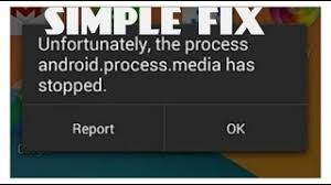 unfortunately the process android process media has stopped unfortunately the process android phone has stopped lenovo