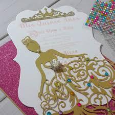 laser cut invitations cinderella dress laser cut invitation jinkys crafts