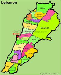 lebanon on the map lebanon maps maps of lebanon