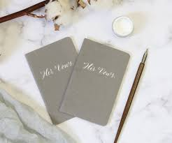 wedding booklets personalised calligraphy wedding vow booklets fluid calligraphy