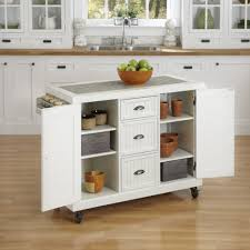 Metal Kitchen Island Tables Baxton Studio Meryland White Kitchen Cart With Storage 28862 5408