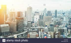 Modern City by Business Concept Panoramic Modern City Skyline Bird Eye Aerial