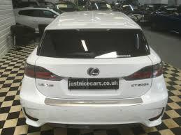 lexus hatchback hybrid second hand lexus ct 200h 1 8 f sport 5dr cvt auto premium sat