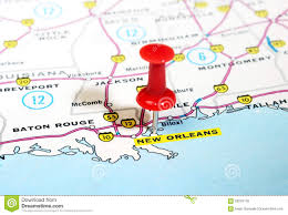 Map New Orleans by New Orleans Usa Map Stock Photo Image 59316118