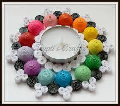 multi purpose multi color paper quilling tea light candle holder