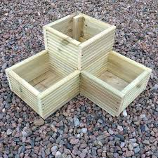 Large Planter Box by Best 25 Wooden Garden Planters Ideas Only On Pinterest Wooden