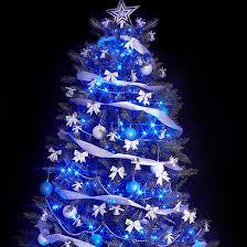 innovative ideas white tree blue lights decor