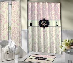 light pink fashion victorian style shower curtain with shopping