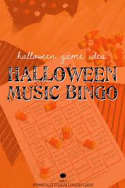 Halloween Bingo Printable Cards Free Halloween Game Idea Halloween Music Bingo Music Bingo