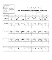 Ten Pin Bowling Sheet Template Bowling Sheet Templates 8 Free Word Pdf Excel Documents
