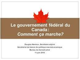 bureau gouvernement du canada title of presentation in verdana bold le gouvernement fédéral du
