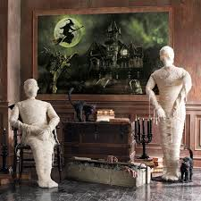life size posable skeleton halloween posable lifesized wrapped mummy statues the green head