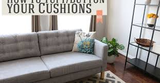 How To Sofa How To Tuft Button Your Cushions Hometalk